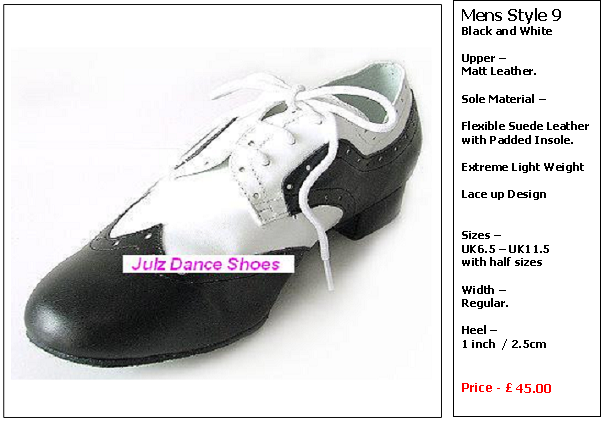 Dizzy Shoes Size Chart